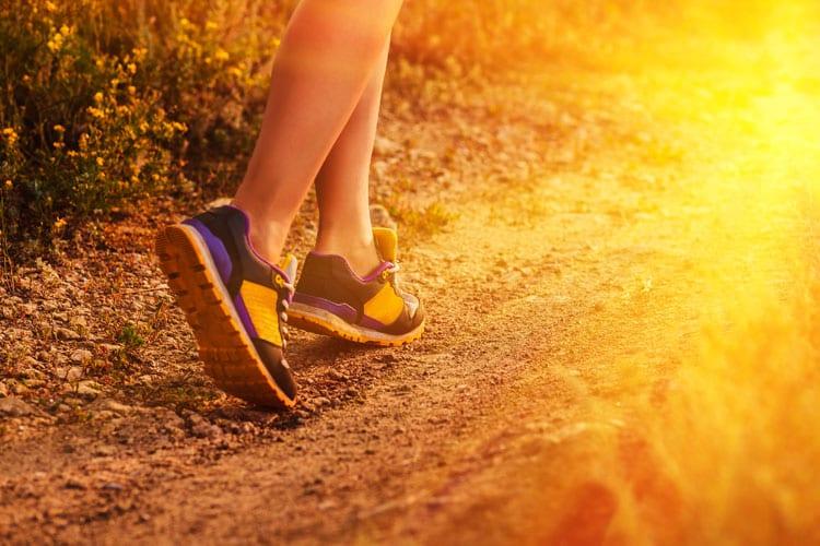 stevig wandelen en afvallen