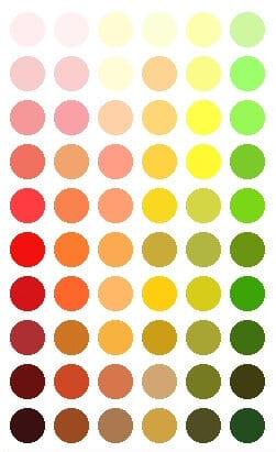 Make up kleur huidtint koel versus warm - Wat zijn de warme kleuren ...