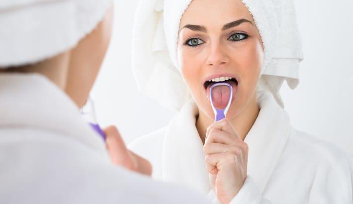 slechte adem tongschraper