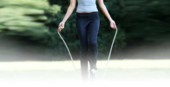 Touwtje springen afvallen afslanken gewicht verliezen