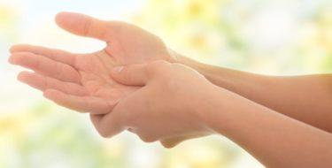 tintelende handen vingers