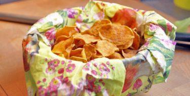 Recept: échte krokante zoete aardappelchips uit de oven