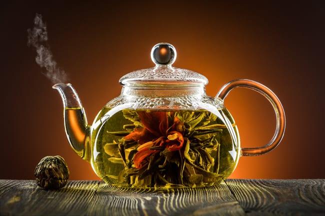 schuim op thee theeschuim
