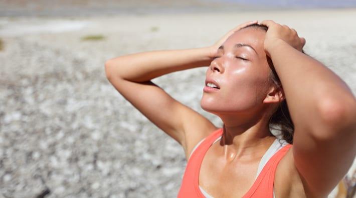 oververhitting uitdroging zonnesteek